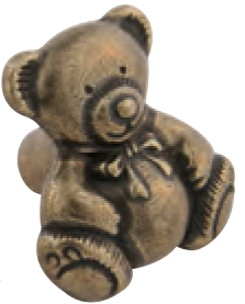 3027-Teddy-Bear-Antique-Brass-Large-Knob