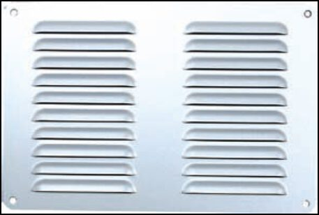 3057-Aluminium-Pressed-Vent-Silver-Anodised-185mm-x-115mm-V2251