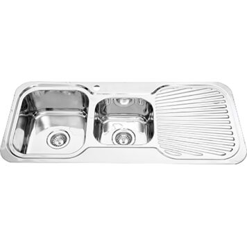 Furnware Dorset Veronar Matrix Left Hand One And Three Quarter Bowl Single Drain Sink S175 Ss
