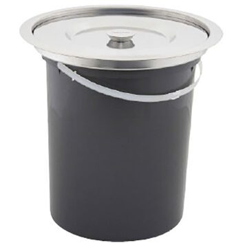 Kimberley 10 Litre Hole In One Integrated Benchtop Bin With Bucket Krb13e Ss