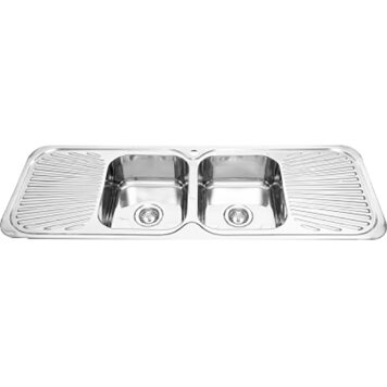 Furnware Dorset Veronar Matrix Double Bowl Double Drain Sink S220 Ss
