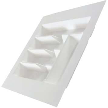 Kimberley White Plastic Cutlery Drawer Insert 450mmx435mm Dst Ct1