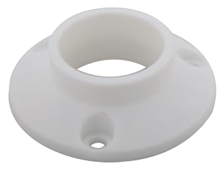 25mm Round Tube End Flange Plastic
