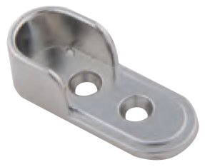 Oval Tube End Flange Satin Chrome