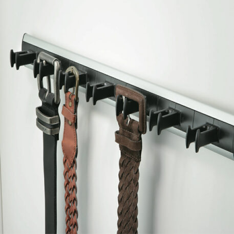 Dorset Pull Out Belt Rack Aluminium Black Plastic Epbr450 Bl Alu Installed