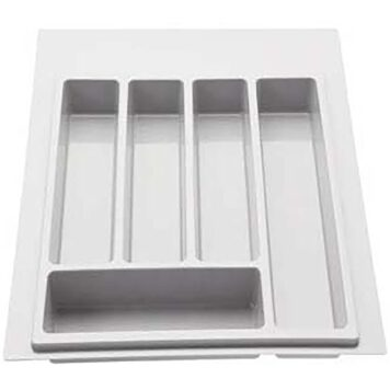 Furnware Dorset White 400mm Plastic Cutlery Tray Psau616 40