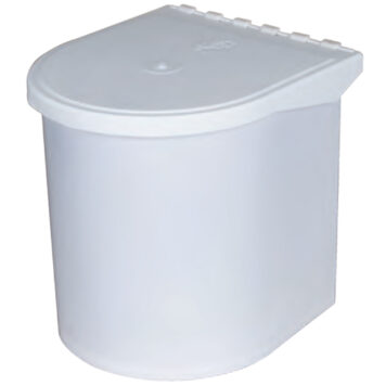 Furnware Dorset 11 Litre White Concealed Swing Out Plastic Kitchen Tidy Bin Dst W08 Wh
