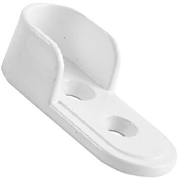 Dorset 30mm Oval Tube End Flange Matt White Screw Fix Dst 1040 Mwh