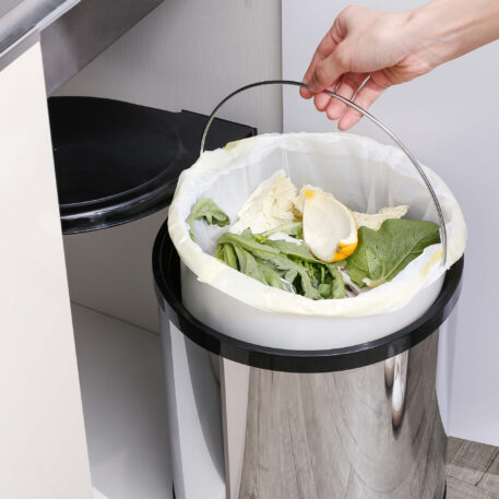 Furnware Dorset Deluxe 11 Litre Stainless Steel Black Swing Out Kitchen Waste Bin Dst W27 Ssbl Installed2