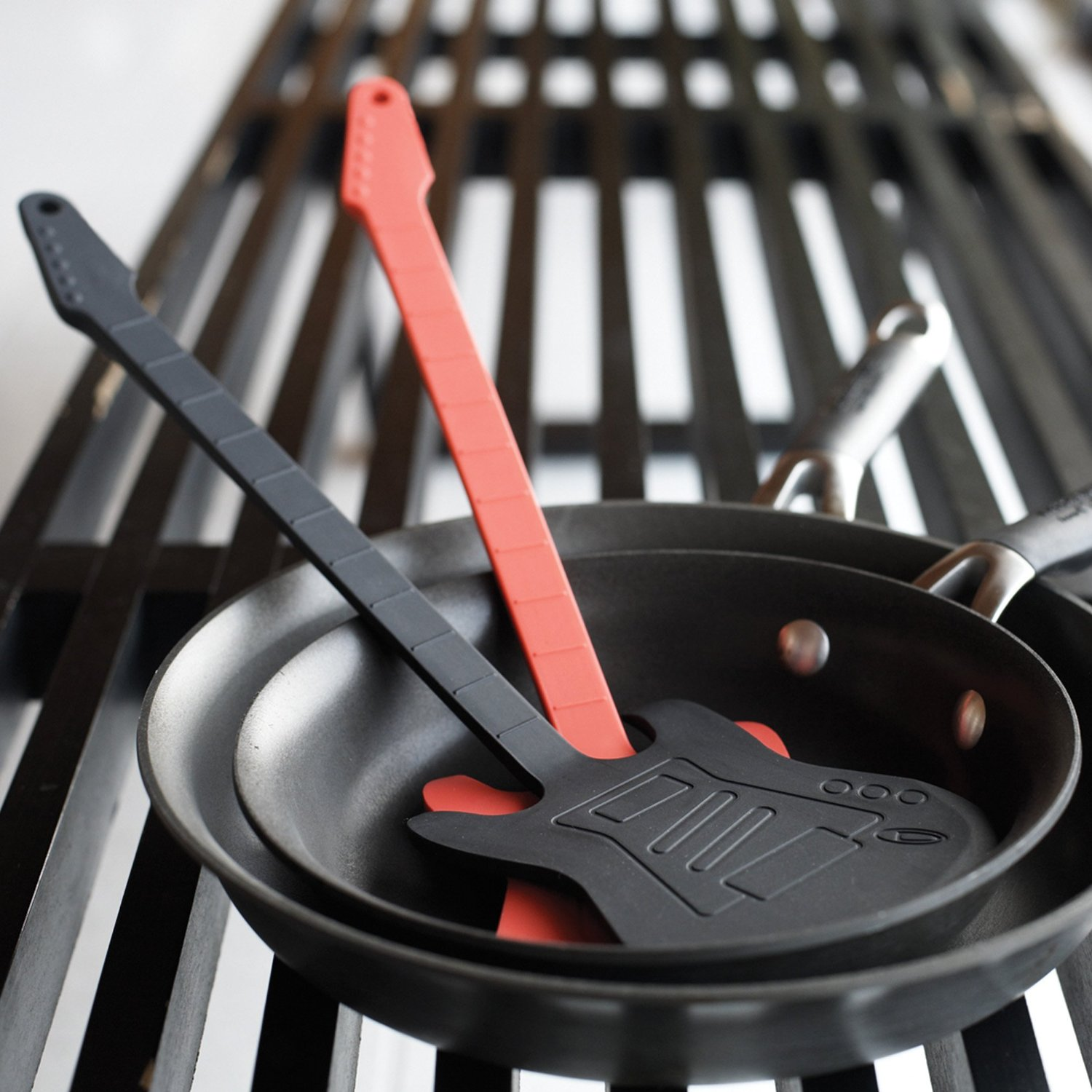 Black and Red Rock Guitar Spatula